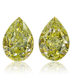 Pear Shaped Diamond Pair
